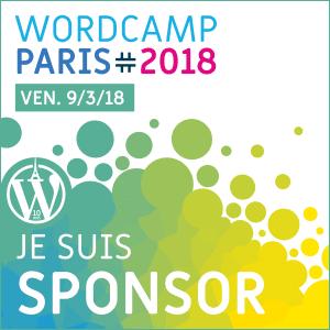 Au service du web sponsorise le WordCamp Paris 2018